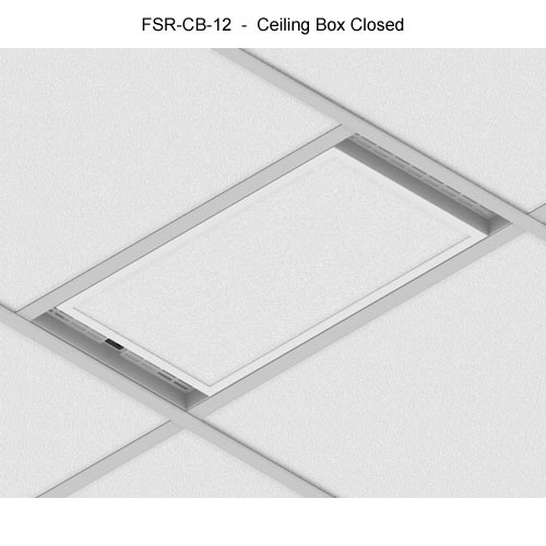 fsr cb series ceiling box installed and closed icon