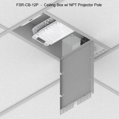 fsr cb series ceiling box with npt projector pole icon
