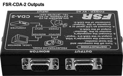 outputs on fsr computer video distribution amplifier icon