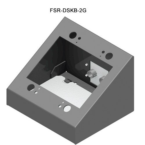 FSR 2-Gang Desktop Wallplate Mount