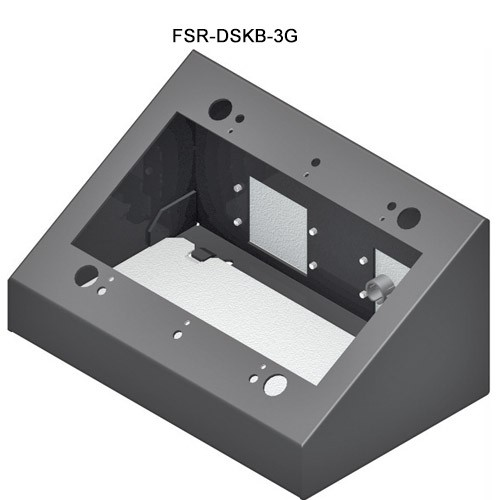 FSR 3-Gang Desktop Wallplate Mount