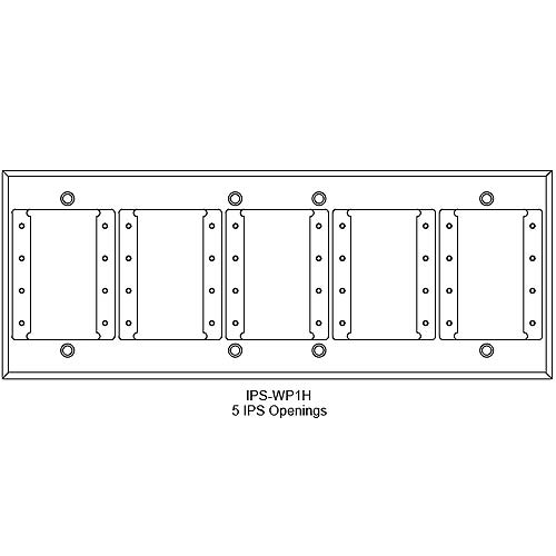 FSR IPS Wall Plates, Rack Mount and Under Table Mounts FSR-IPS-WP1H