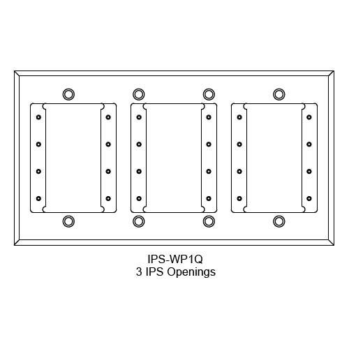 FSR IPS Wall Plates, Rack Mount and Under Table Mounts FSR-IPS-WP1Q