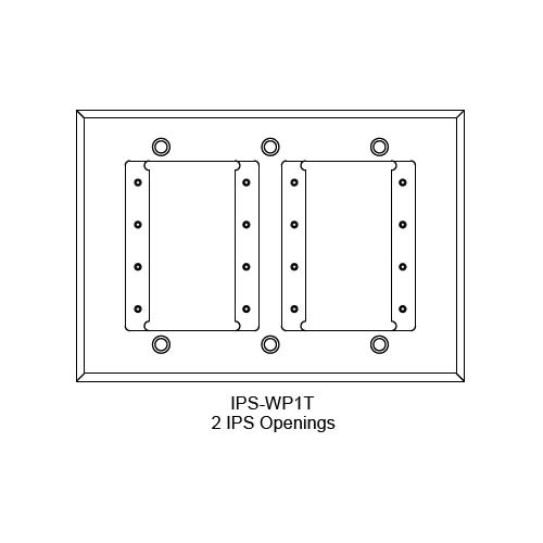 FSR IPS Wall Plates, Rack Mount and Under Table Mounts FSR-IPS-WP1T