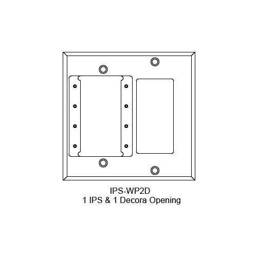FSR IPS Wall Plates, Rack Mount and Under Table Mounts FSR-IPS-WP2D