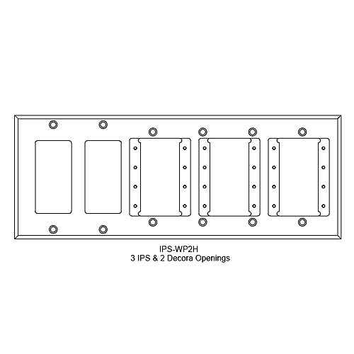 FSR IPS Wall Plates, Rack Mount and Under Table Mounts FSR-IPS-WP2H