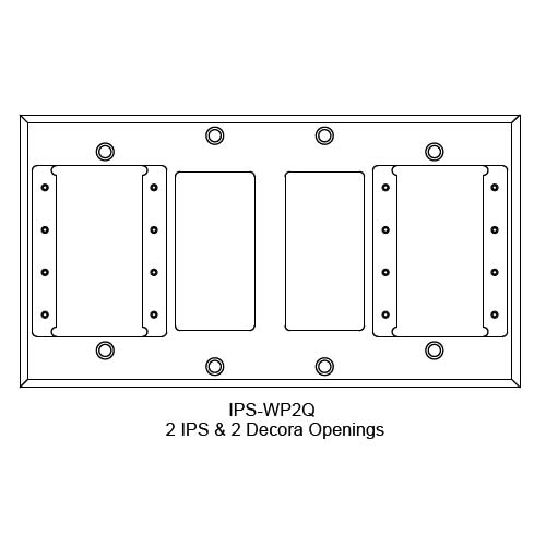 FSR IPS Wall Plates, Rack Mount and Under Table Mounts FSR-IPS-WP2Q
