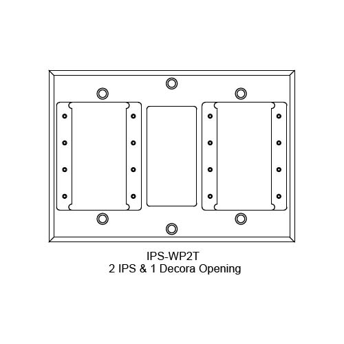FSR IPS Wall Plates, Rack Mount and Under Table Mounts FSR-IPS-WP2T