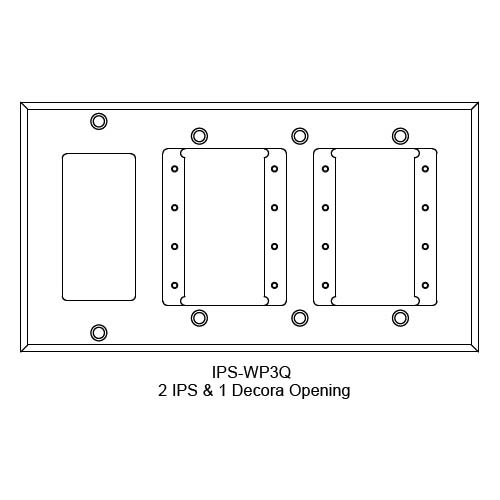 FSR IPS Wall Plates, Rack Mount and Under Table Mounts FSR-IPS-WP3Q