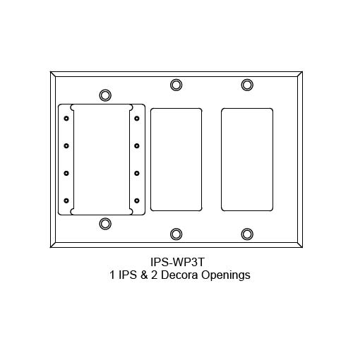 FSR IPS Wall Plates, Rack Mount and Under Table Mounts FSR-IPS-WP3T
