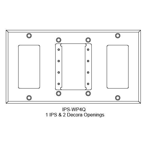 FSR IPS Wall Plates, Rack Mount and Under Table Mounts FSR-IPS-WP4Q