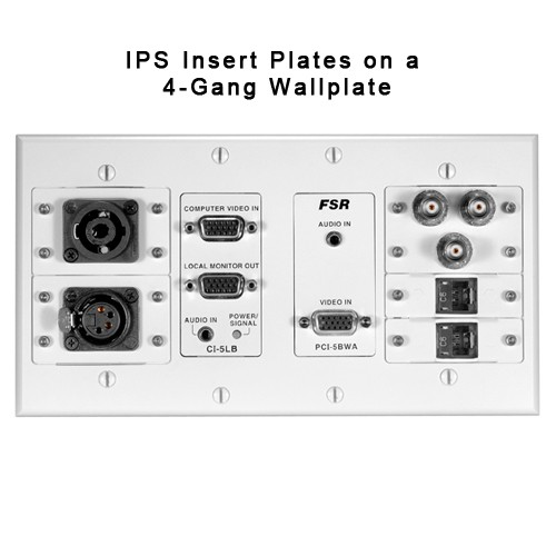 fsr ips inserts on four gang wall plate icon