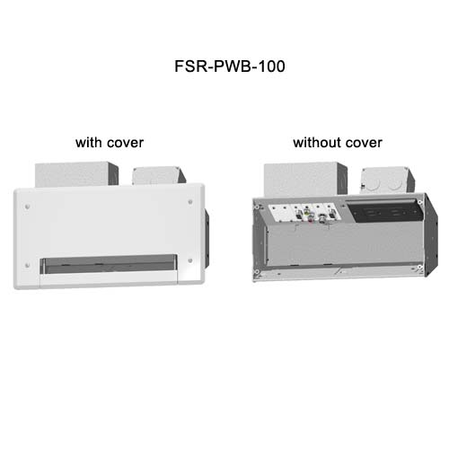 fsr plasma and  lcd connection wall boxes with and without covers icon
