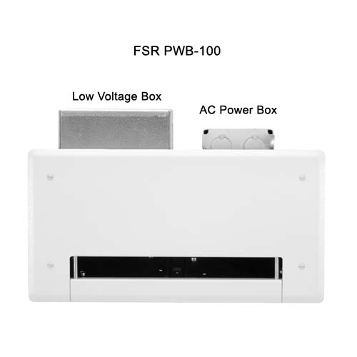 fsr plasma and  lcd connection low voltage and ac power boxes icon