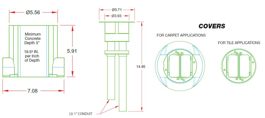 schematics for smartfit floor boxes