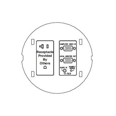 FSR Floor Boxes, SmartFit FSR-SF-CI5LB-PB