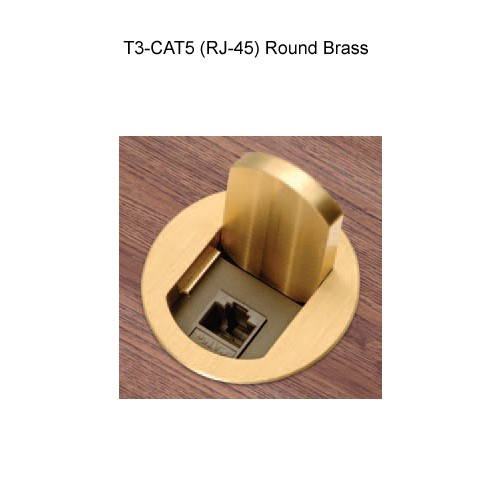 FSR T3-Cat5 Round Brass