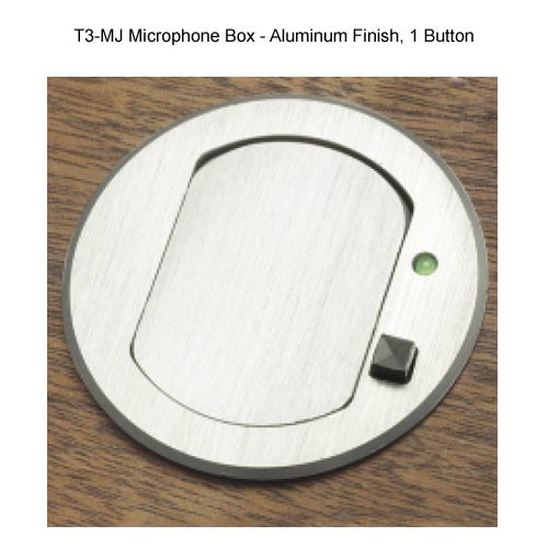 aluminum finish one button fsr t3 mj table top microphone box
