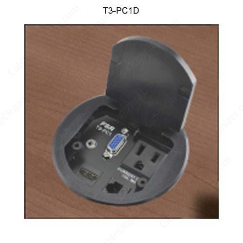 fsr t3 square single user table box in brass icon