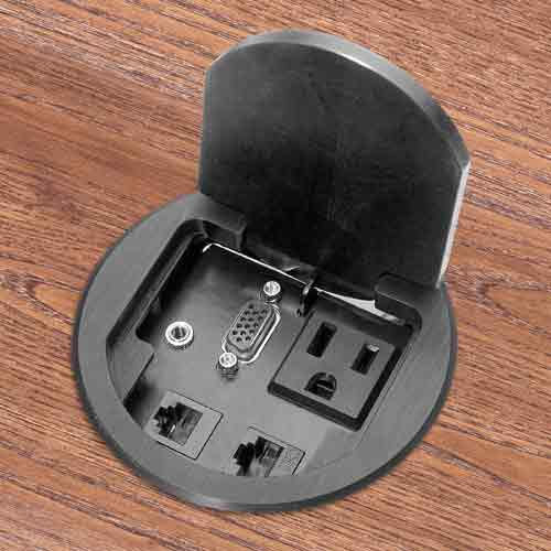 fsr t3 round single user table box in aluminum and closed icon