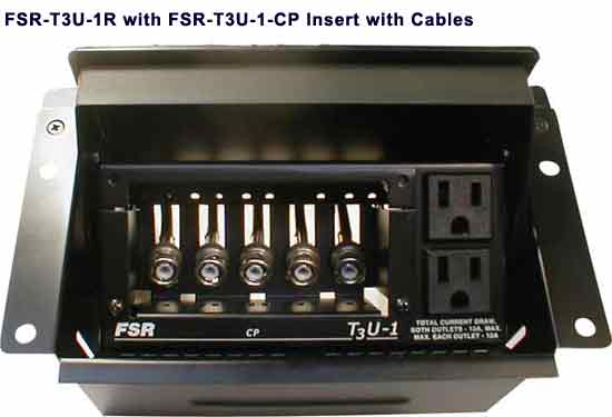black fsr t3u 1 table box insert with cables icon