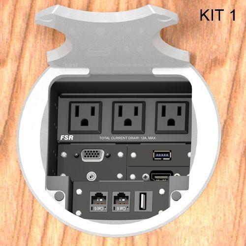 FSR® T6-AC3 Table Boxes FSR-T6-AC3-KIT1-RC-AL