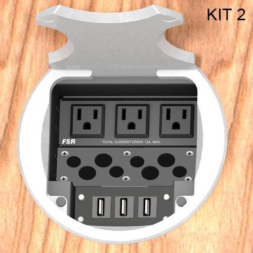 FSR® T6-AC3 Table Boxes FSR-T6-AC3-KIT2-RC-AL