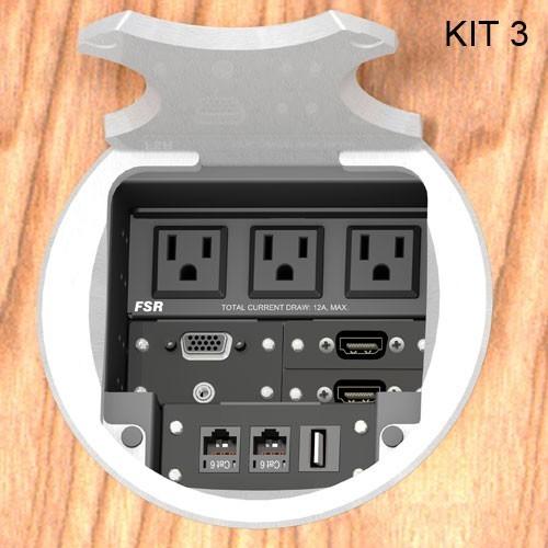 FSR® T6-AC3 Table Boxes FSR-T6-AC3-KIT3-RC-AL