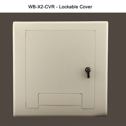 fsr wb x series wall box lockable cover in white icon