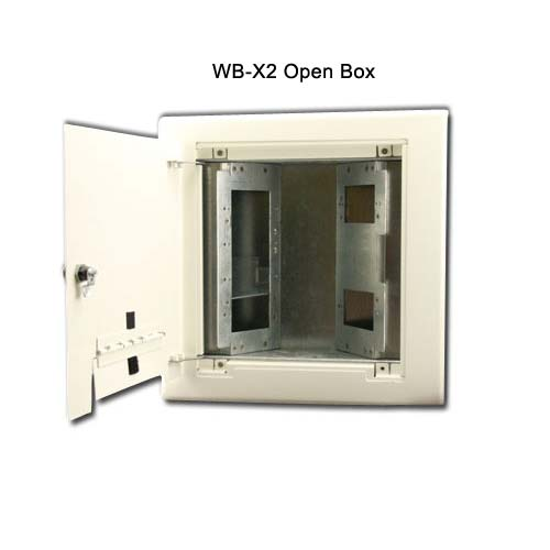 open view of fsr wb x2 series wall box in white icon