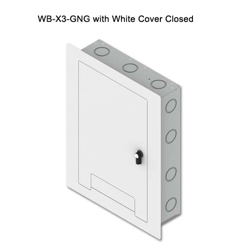 fsr wb x3 series wall box in white with cover closed icon