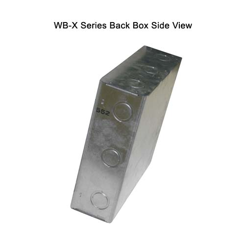 fsr wb x series back box side view icon
