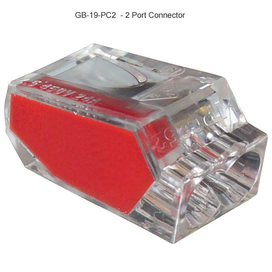 PushGard push in 2 port wire connectors, red icon