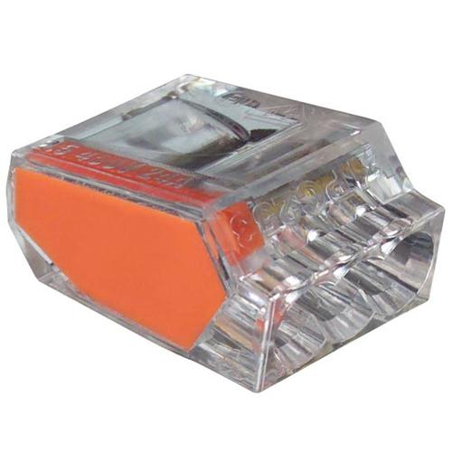PushGard push in 2 port wire connectors, orange icon