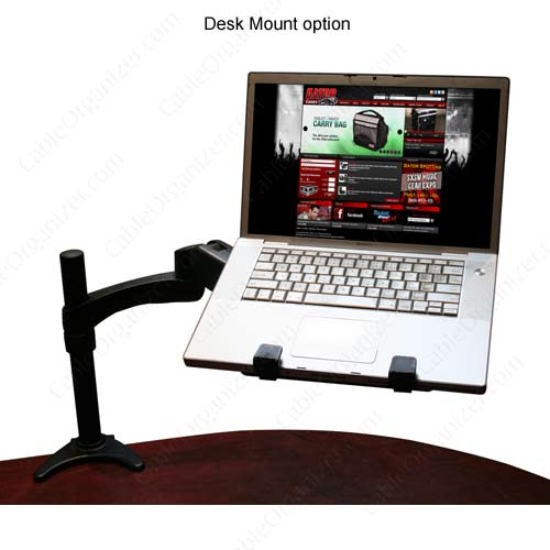 desk mount with laptop