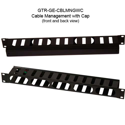 gator gtr-ge-1u-cblmngwc plastic cable manager with cap icon