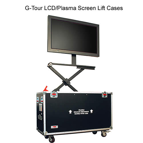 gator g-tour lcd and plasma lift screen case in use icon