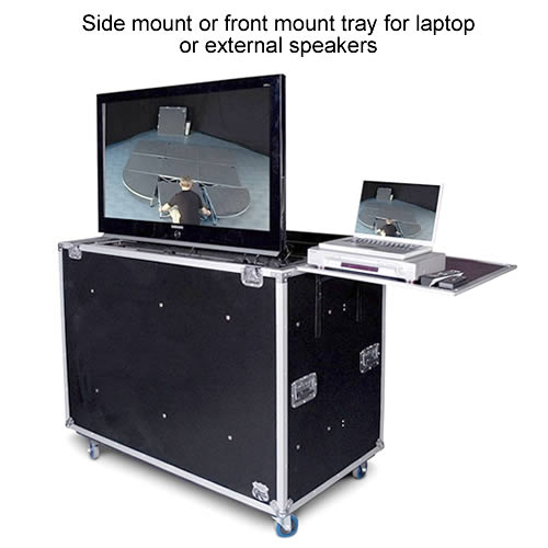 gator g-tour lcd and plasma lift screen case with side mount or front mount tray for speakers or laptop icon