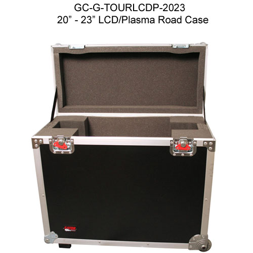 gator cases 20 through 23 inch g-tour lcd and pasma road case opened icon