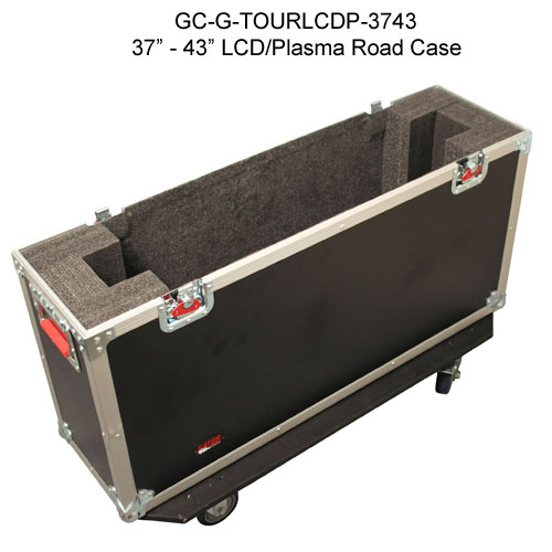 top view of gator cases 37 through 43 inch g-tour lcd and pasma road case open icon
