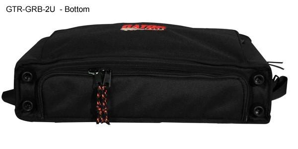 bottom view of 2u gator rack bag icon