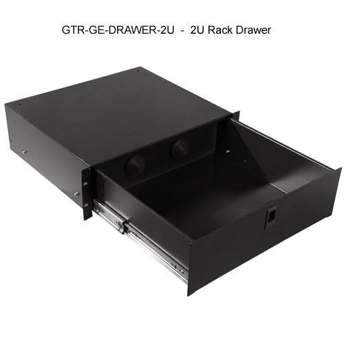 open view of 2u gator lockable rack mount drawer icon