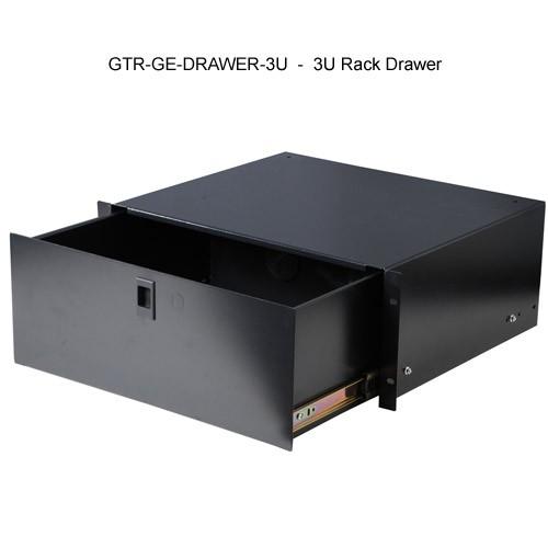 open view of 3u gator lockable rack mount drawer icon