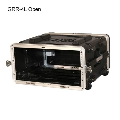 front view of gator cases open 4l rolling case icon