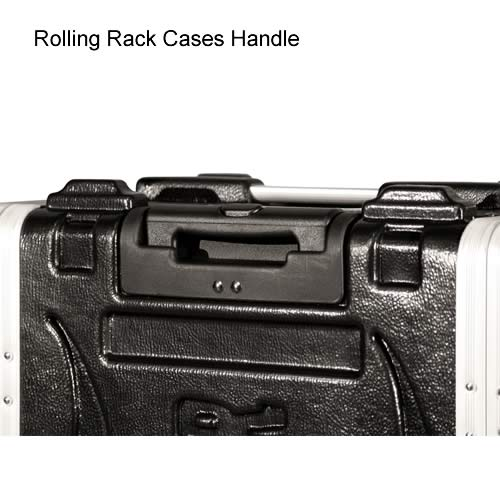 close up of gator cases rolling rack case handle icon