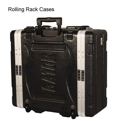 front view of gator cases rolling rack case icon