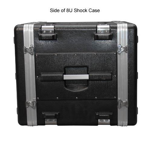 side view of gator polyethylene 8 space shock rack case icon