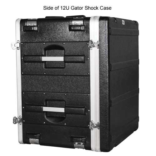 side view of gator polyethylene 12 space shock rack case icon