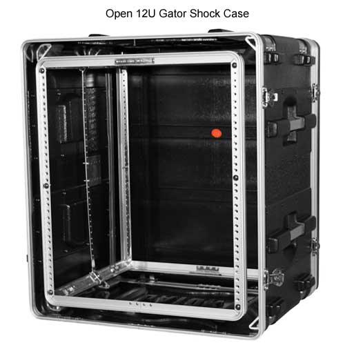 open gator polyethylene 12 space shock rack case icon