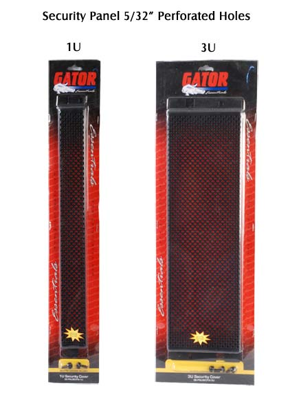 gator cases security panel with perforated holes in package icon